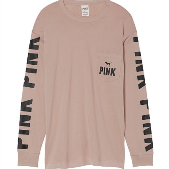 38% off PINK Victoria's Secret Tops - VS pink long sleeve campus ...